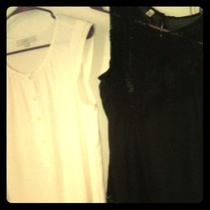 BUNDLE OF 2 WOMENS SHEER SEXY TOPS SZ L & XL CUTE